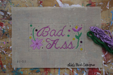 EG-013 Bad A** on beige canvas
