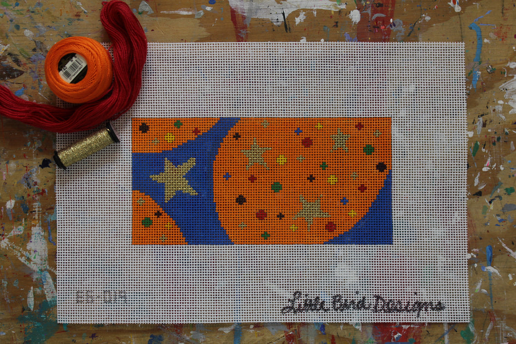 EG-019 Stars and dots on blue and orange