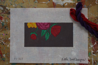 EG-022 Roses and daisies on gray background