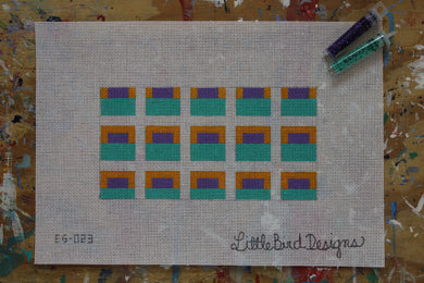 EG-023 Aqua, yellow and purple squares