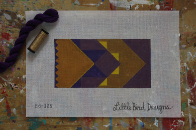 EG-025 Art deco gold and purple