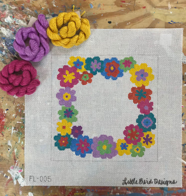FL-005 Bright daisy wreath