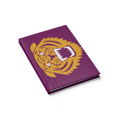 Wildcat with Dark Magenta Background - Blank Journal