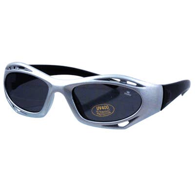 Boys Racing Sunglasses- Silver