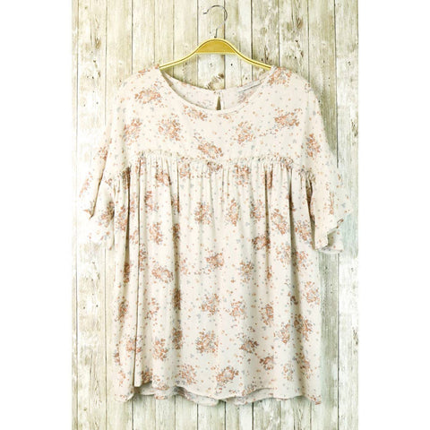 Floral Ruffle Flounce Top