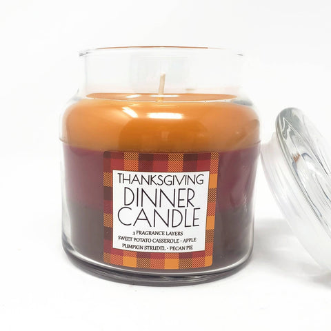 Thanksgiving Dinner 3 Layered Scented Fall Candle