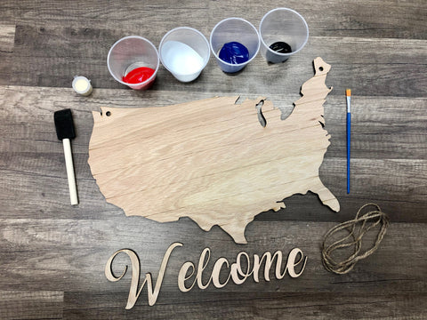 DIY United States Welcome Sign Kit