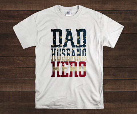 Dad, Husband, Hero Father's Day T-Shirt