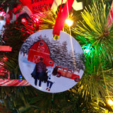 Christmas Tree Farm Custom Ornament