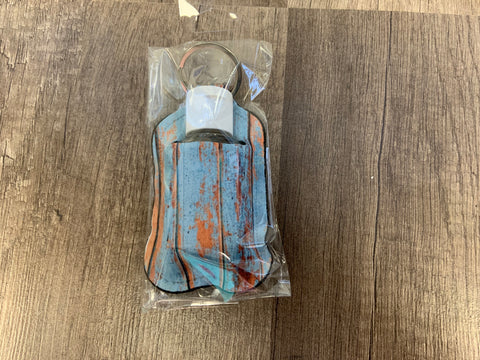Rustic Painted Wood Hand Sanitizer