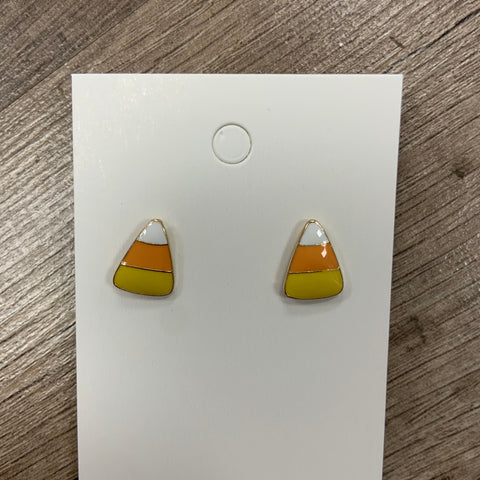 Candy Corn Enamel Stud Earrings