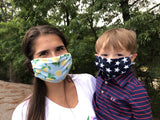Moisture Wicking Mask - Solid Navy