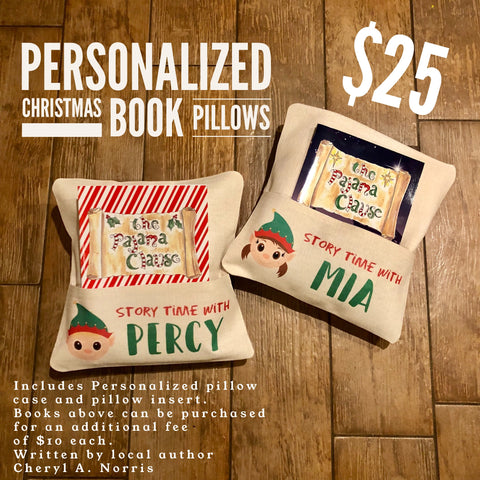 Personalized Christmas Book Pillows