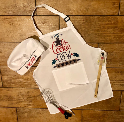 Kids Christmas Apron and Hat
