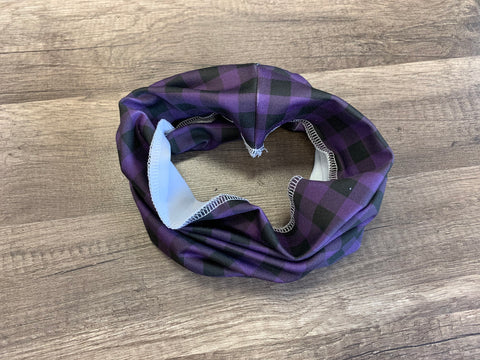 Gaiter Mask - Purple Gingham
