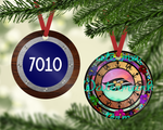 DCL Stained Glass Ornament