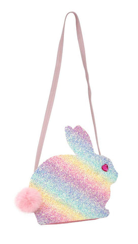 Rainbow Glitter Bunny Shoulder Bag