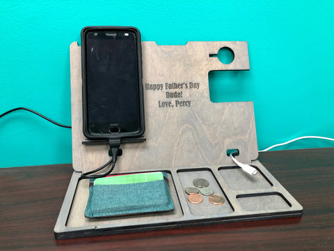 Custom Message Father's Day Charging Organizer
