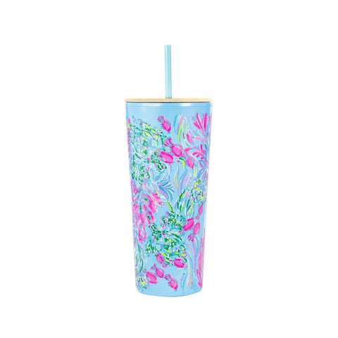 Lilly Pulitzer Tumbler with Straw, Best Fishes