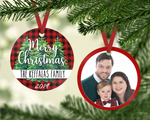 Custom Family Picture Ornament