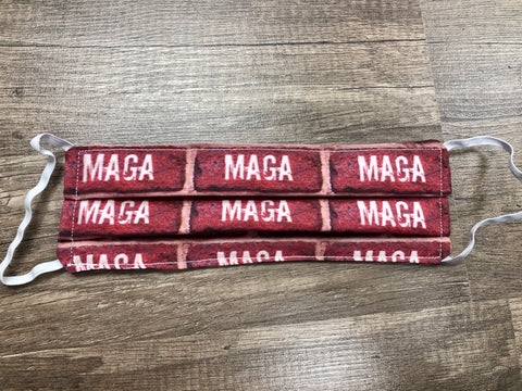 Adult Mask - MAGA Brick Wall