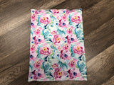 Gaiter Mask - Watercolor Flowers (Pink & Blue)