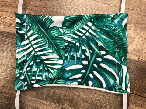 Moisture Wicking Mask - Palm Leaves