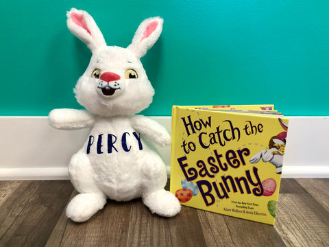 Personalized Easter Bunny with Book