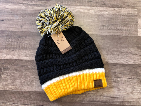 Pittsburgh Team Pom C.C. Beanie