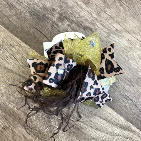 Cheetah Prints Large Boutique Bow