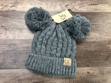 Adult Double Pom C.C. Beanie