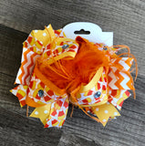 Candy Corn Large Boutique Bow