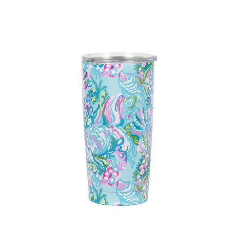 Lilly Pulitzer Thermal Mug, Aqua La Vista