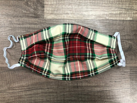 Christmas Plaid Mask
