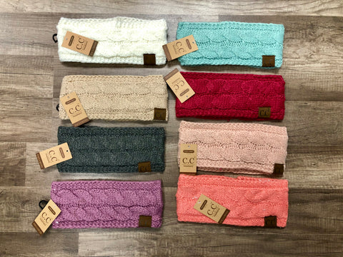 C.C. Beanie Adult Cable Knit Headband
