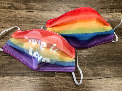 Adult Mask-2 Pack PRIDE & Love is Love
