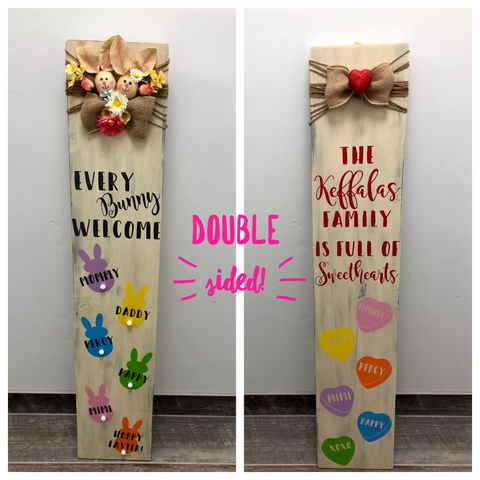 Valentine's/Easter Double Sided Welcome Sign DIY Class