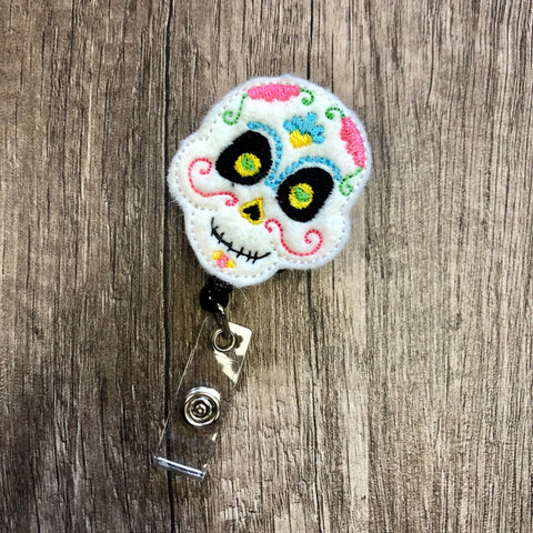 Candy Scull Badge Reel