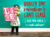 Toddler Time Valentine's Craft Class