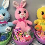 Jumbo Easter Eggs with Mini Stuffed Animal
