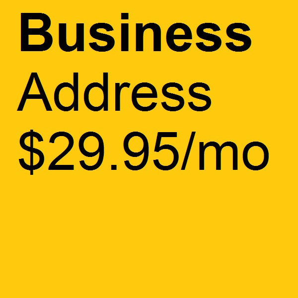 Business Address $29.95/mo
