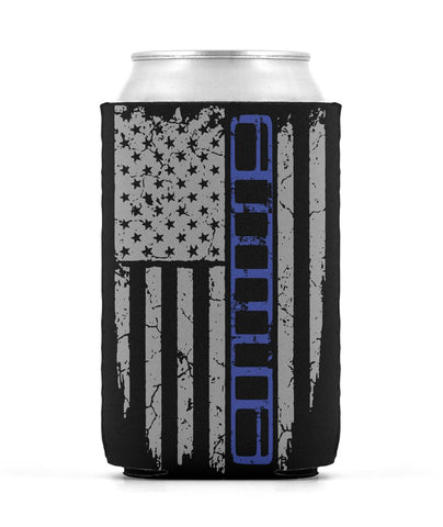 XJ Blue Stripe Koozie