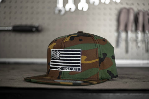 *LIMITED EDITION* Camo Stars & Stripes Cherokee Snapback