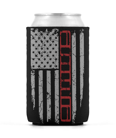 XJ Red Stripe Koozie