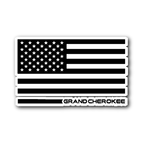 Grand Cherokee Flag sticker