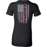 Jeep XJ Pink Stripe Flag shirt