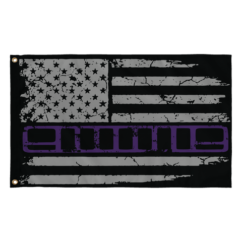 XJ Purple Stripe Flag