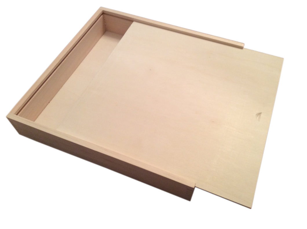Unfinished wood craft boxes -  Decorative Storage Wooden Box By Woodcaser Holds 12 X 12 X 1 3