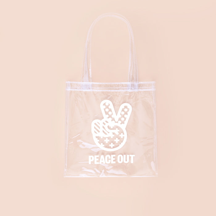 LIMITED EDITION Peace Out Clear Shopper
