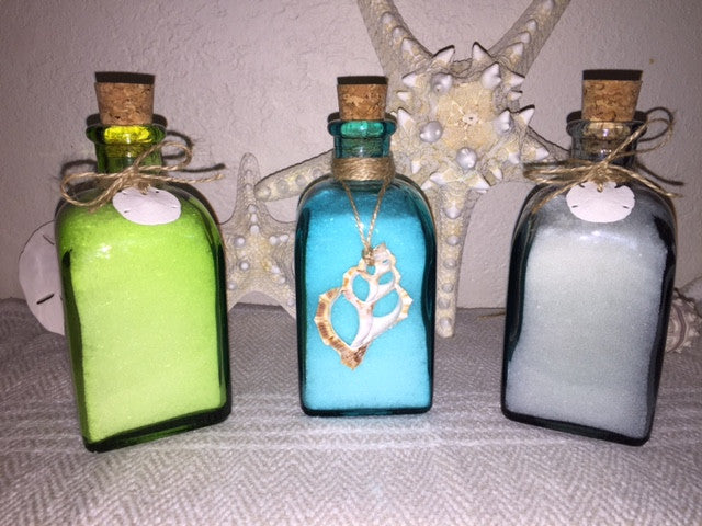 Dead Sea Bath Salts with 100% Essential Oils 8 Ounces - Recycled Glass Bottle From Spain